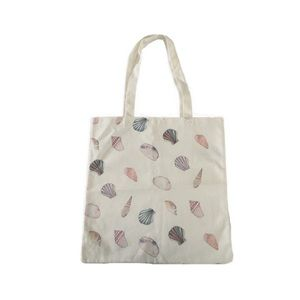 Forever 21 Seashell Canvas Tote Bag Purse